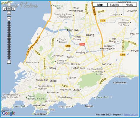 qingdao map qingdao map travelsfinders