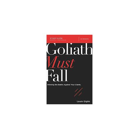 Goliath Must Fall Study Guide Lifeway
