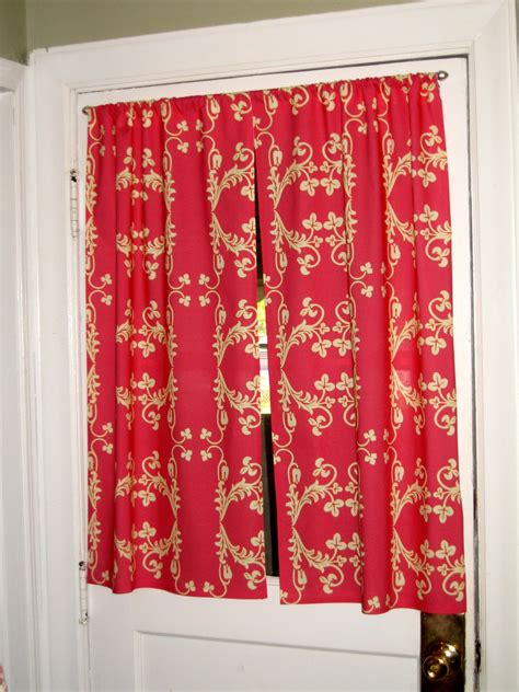 kitchen door curtain ideas showers for small bathrooms