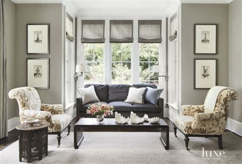 Traditional Armchairs For Living Room by Traditional Gray Living Room With Playful Print Armchairs