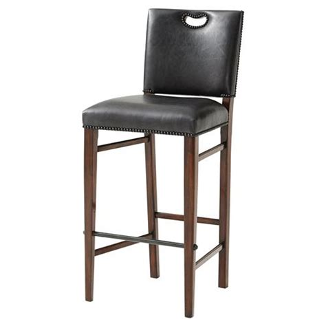 nailhead bar stool leather theodore alexander the officer s mess vintage nailhead