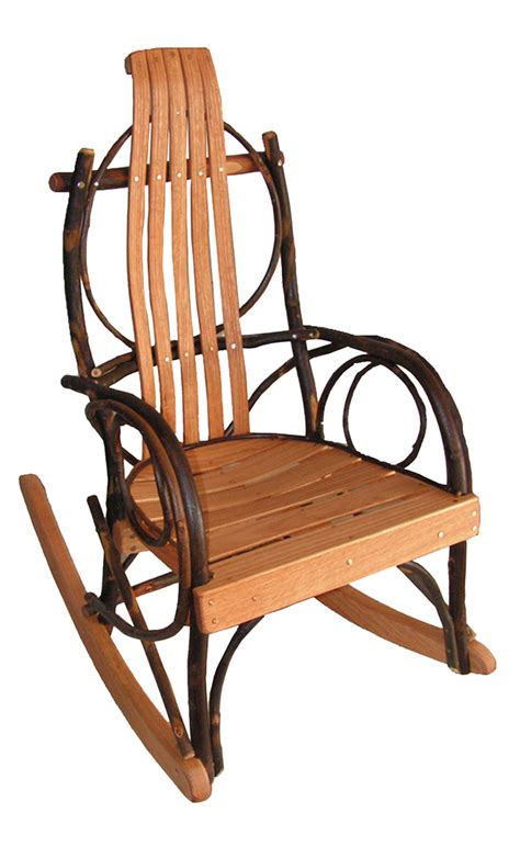 Oak Rocking Chairs by Childs Amish Hickory And Oak Bentwood Rocker