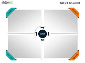 swot analysis 4 free powerpoint charts