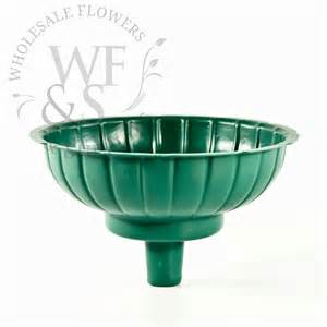 7 quot green floral container for tower vases
