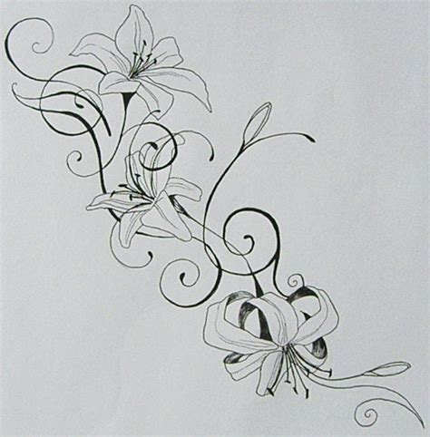 name lily tattoo designs by aerisignis on deviantart