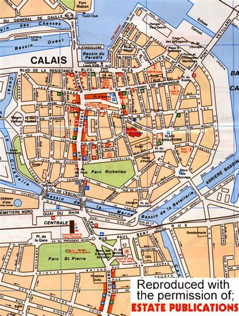 calais map free map of calais for shoppers travellers links