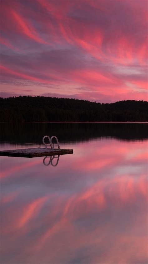 wallpaper lake  hd wallpaper sea pink sunset