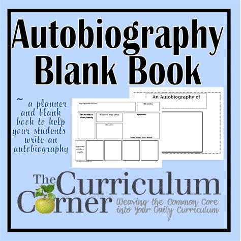 biography book 2nd grade autobiography blank booklet planner the curriculum
