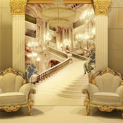 murals living room entrance wallpaper wedding