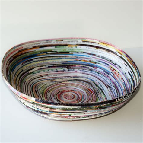 How To Make Paper Bowls From Magazines - how to recycle magazines into bowl