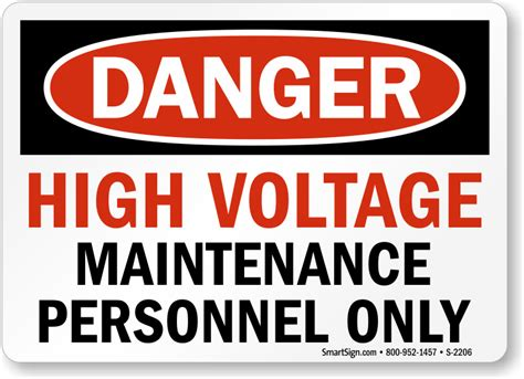 8 Signs You Are A High Maintenance by High Voltage Maintenance Personnel Only Sign Sku S 2206
