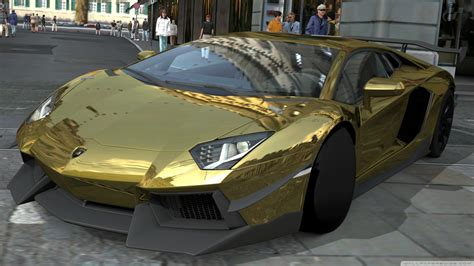 Lamborghini And Lamborghini Aventador Black And Gold Wallpaper 1600x900