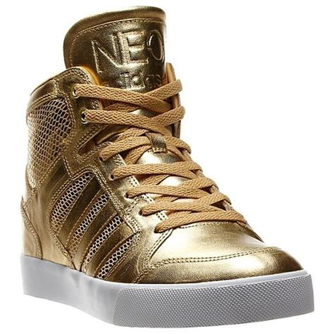 adidas neo gold sneakers sneakernews