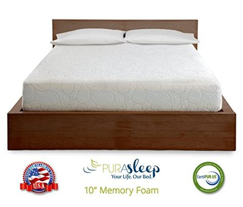American Made Memory Foam Mattress by Purasleep 10 Inch Coolflow Memory Foam Mattress Made In