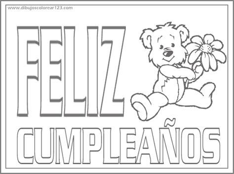 imagenes que digan feliz cumpleaños mamá para colorear dibujo colorear feliz cumplea 241 os