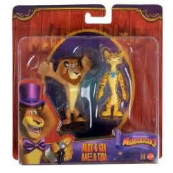 madagascar twin 2 pack animal figures toy new