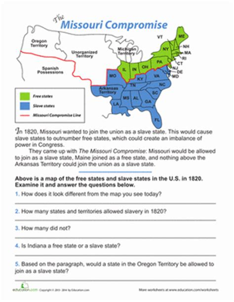missouri compromise map activity answer key best 25 missouri compromise ideas on 5th
