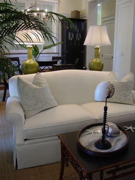 slipcover furniture living room white slipcover sofa in coastal living room our boat