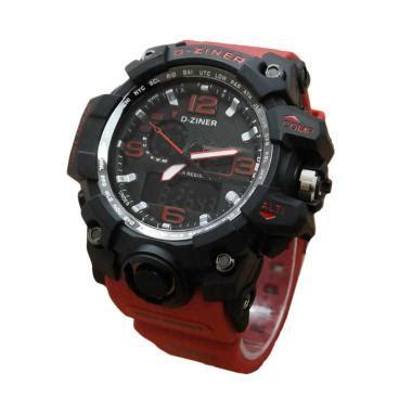 jam tangan pria dziner karet jual d ziner dz0533 dual time jam tangan pria karet