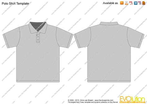 polo shirt template the blueprints vector drawing polo shirt template