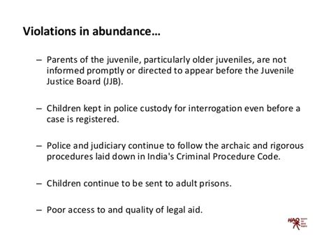 Does A Criminal Record Affect Child Custody Juvenile Justice In India Policy And Implementation Dilemmas