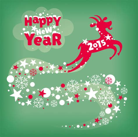 happy new year goat creative new year year of the goat snowflake card vector