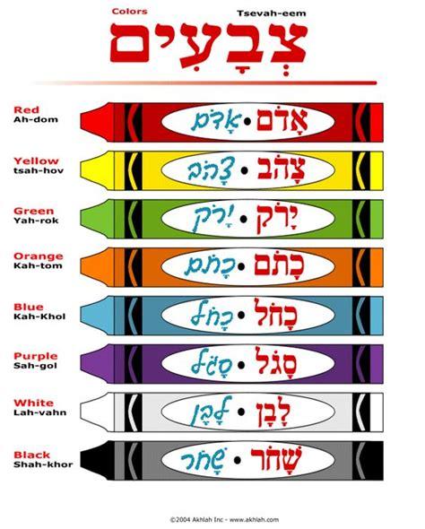 colors in hebrew 1000 ideas about hebrew school on torah