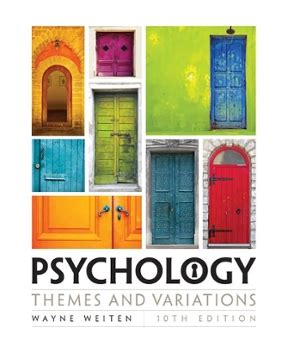 Psychology 10th Edition psychology themes and variations 10th edition rent