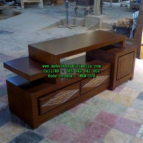Buffet Kayu model bufet jati pendek minimalis mebel kayu minimalis