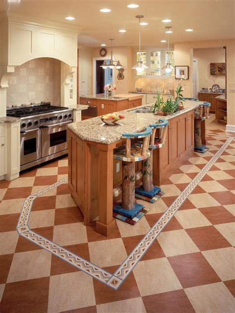 Red Oak Cabinets Kitchen by Kitchen Floor Buying Guide Hgtv