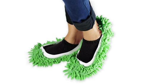 Microfiber Mop Shoes Harga Grosir microfiber chenille mop slippers 1 or 2 pack groupon
