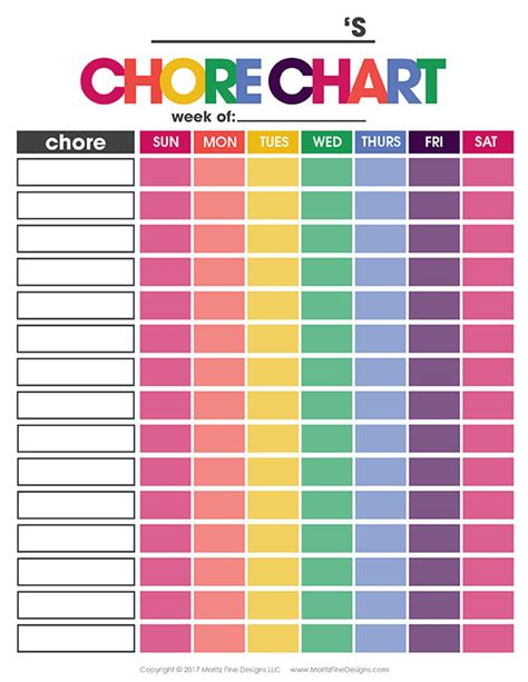printable toddler responsibility chart chore chart for kids free printable chore chart that works