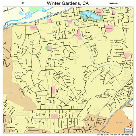 winter gardens california street map 0685992