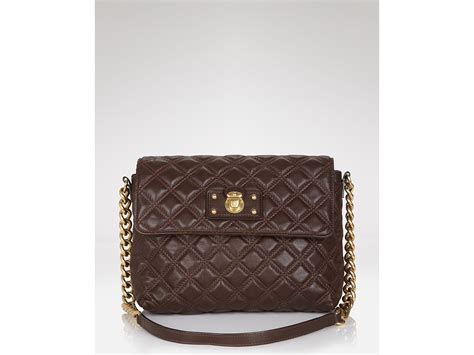 Marc Large Quilted Tote by Lyst Marc Quilted Large Single Shoulder Bag In Brown