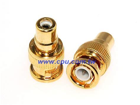 T Bnc Made Taiwan 4 bnc 056g 1544k t bnc頭 rca座 鍍金 廣華電子
