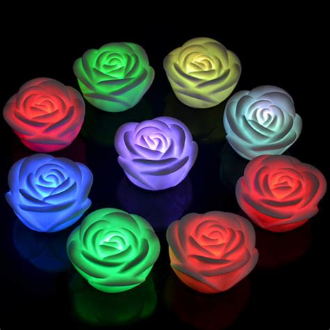 L With Nightlight by Multi 7 Colour Led Flower Lights