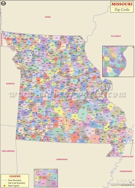 zip code map missouri buy missouri zip code map