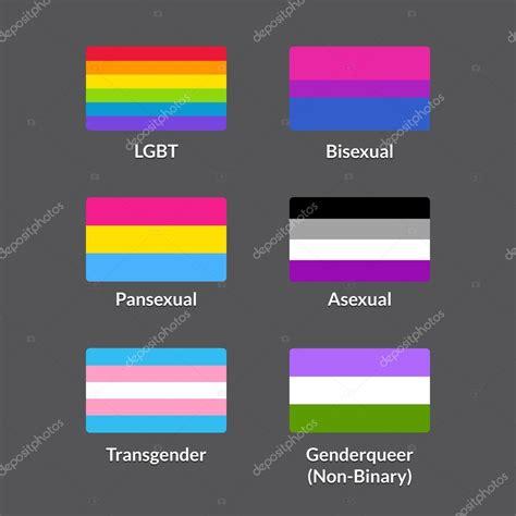 lgbt flags set stock vector 169 sudowoodo 110456482