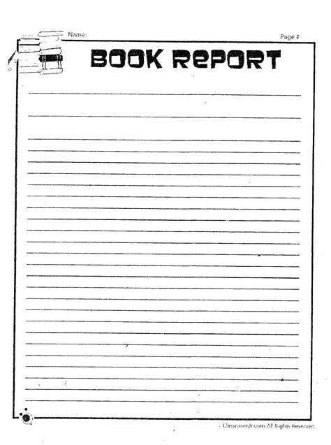 book reporter edwards nona 5th grade language arts printables