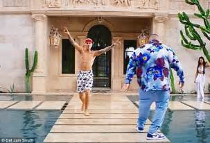 house party music video justin bieber shows off abs in new dj khaled music video daily mail online