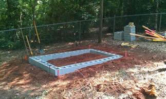 Cinder Block Shed Foundation by The Egg Stop Backyard Chickens Community