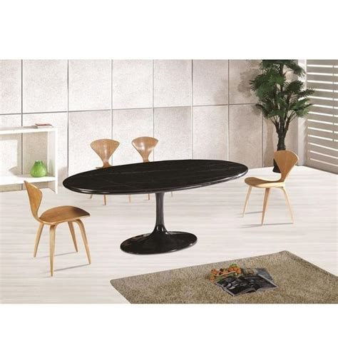 Real Marble Dining Table Saarinen Style 78 Quot Tulip Oval Real Marble Dining Table Emfurn