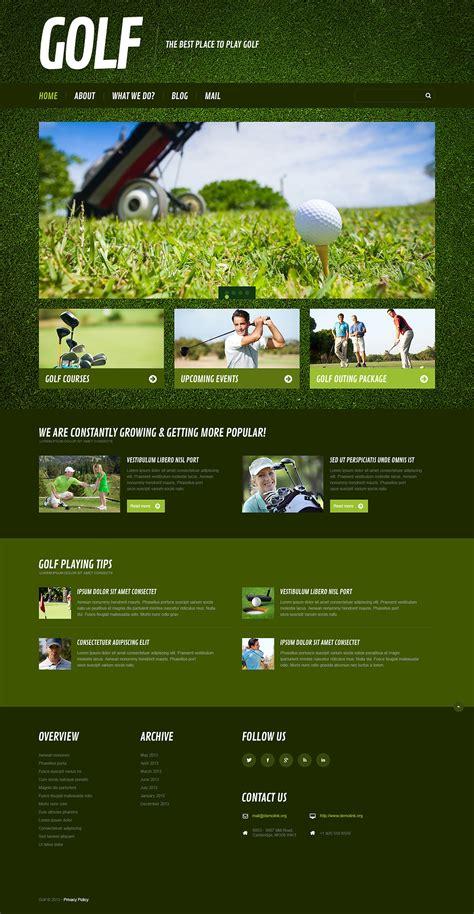 themes wordpress golf golf responsive wordpress theme 45573