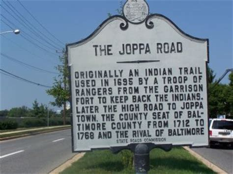 the joppa road historical marker
