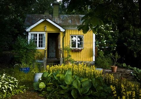 little cottage house little yellow cottage tiny house pins
