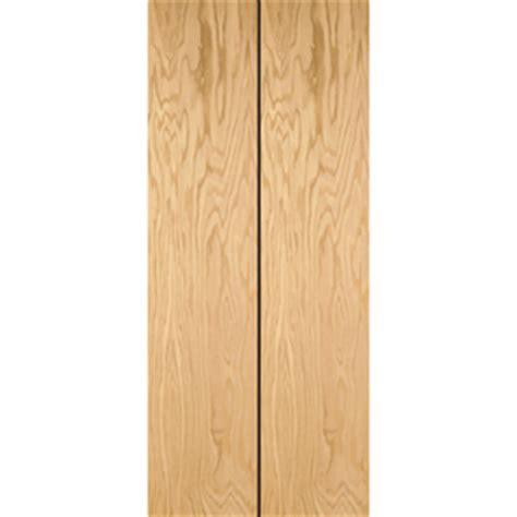 42 Inch Bifold Closet Doors by Shop Reliabilt Flush Hollow Oak Bifold Closet Door Common 32 In X 80 In Actual 31 5 In