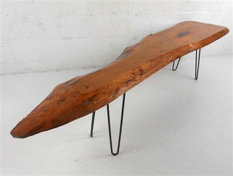Tree Slab Coffee Table Unique Mid Century Modern Free Form Tree Slab Coffee Table For Sale At 1stdibs