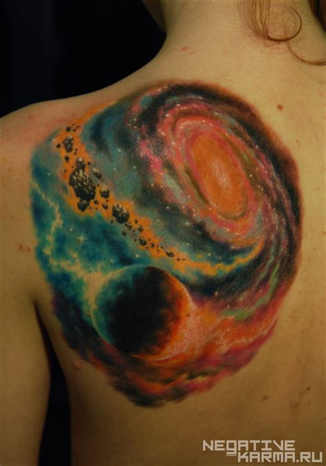 universe tattoo colorful galaxy tattoos page 4 pics about space