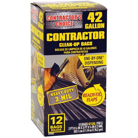 shop contractor s choice 12 count 42 gallon trash bags at