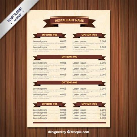 mexican food cantina menu template design